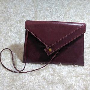 Vintage   Burgundy Envelope Shoulder Bag